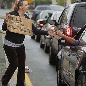 Help panhandlers?
